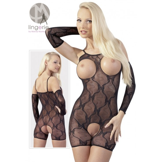 Catsuit open mini din dantela