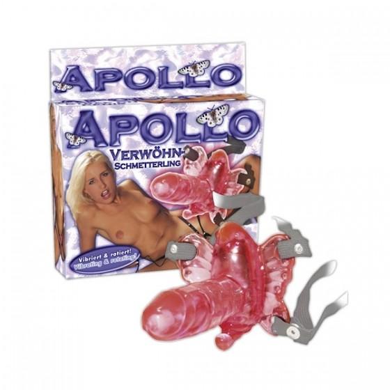 Strap-on penis cu vibratii si rotatii Apollo