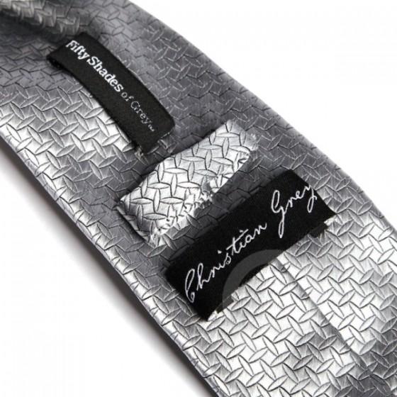 Cravata Christian Grey argintie Fifty Shades of Grey