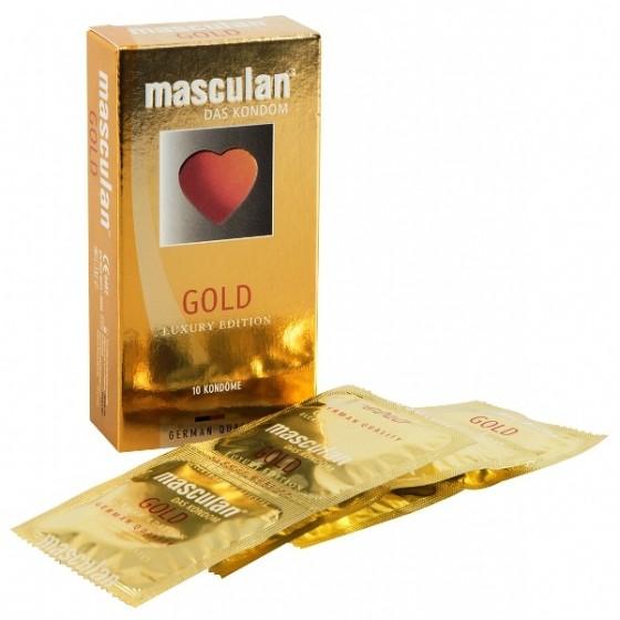 Prezervative vanilie Masculan Gold 10buc
