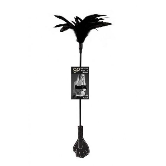 Cravasa Guilty Pleasure Feather Crop Black
