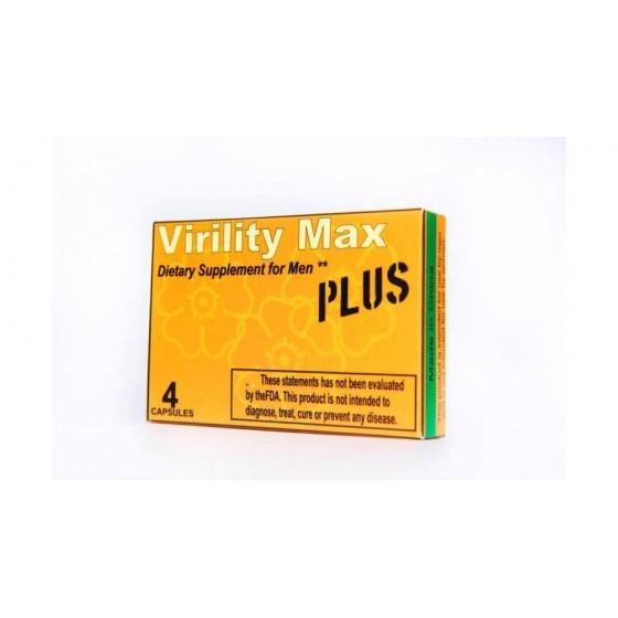 Capsule pentru potenta Virility Max Plus 4 capsule