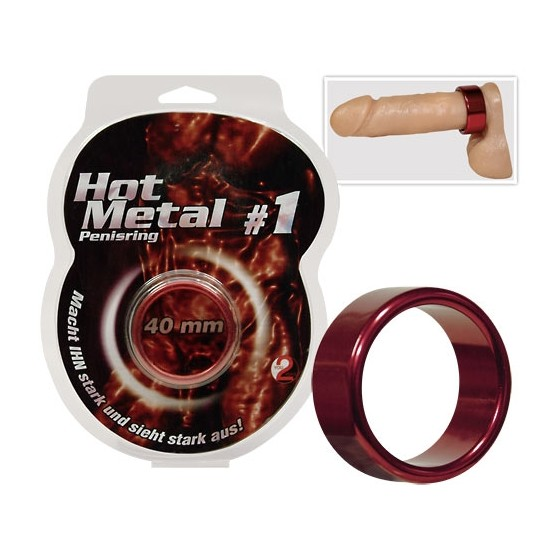 Inel penis Metal rosu 40mm