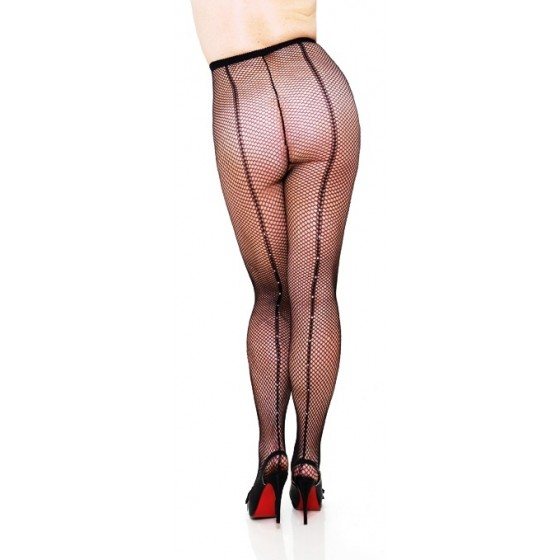 Ciorapi Fishnet Pantyhose Backseam Rhinestones
