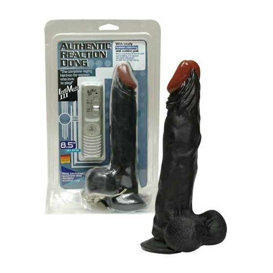 Dildo vibrator Authentic Reaction black 22cm